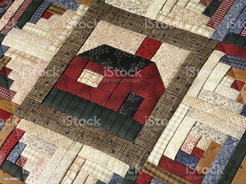 Quilt - Log Cabin Corner Lot (Mini) royalty-free stock photo