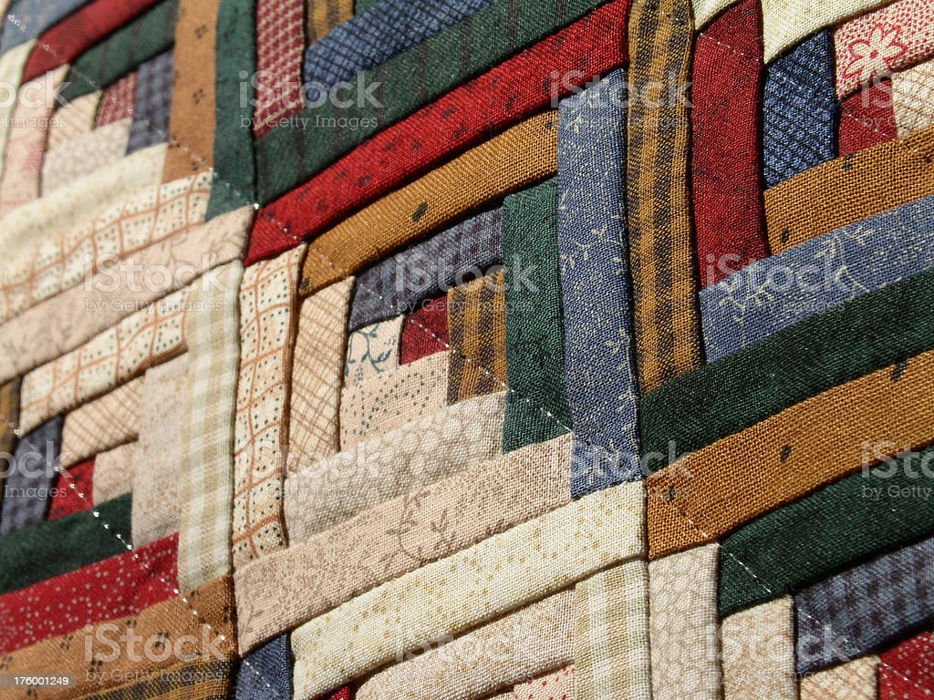 Quilt – Log Cabin Detail (Mini) royalty-free stock photo
