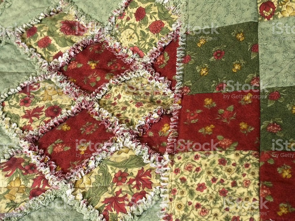 Quilt - Patchwork Raggy royalty-free stock photo