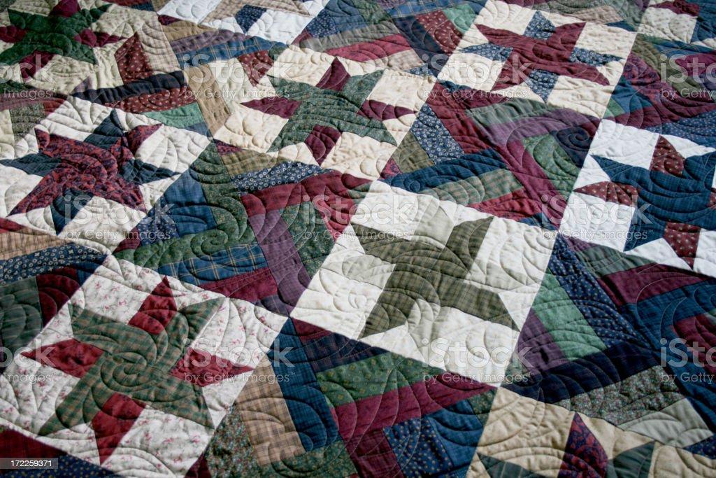 Quilt – Prairie Star royalty-free stock photo