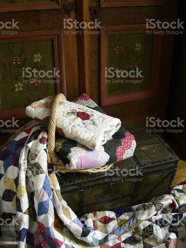 Quilt Trunk royalty-free stock photo