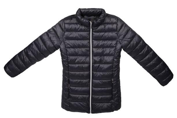 quilted jacket isolated - pena de pássaro algodão imagens e fotografias de stock