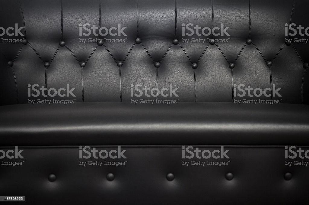 Quilted sofa Close Up stock photo