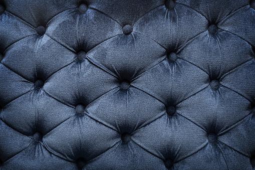 Quilted velvet dark fabric