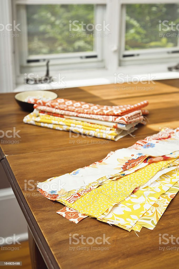 Quilting Fabric stock photo