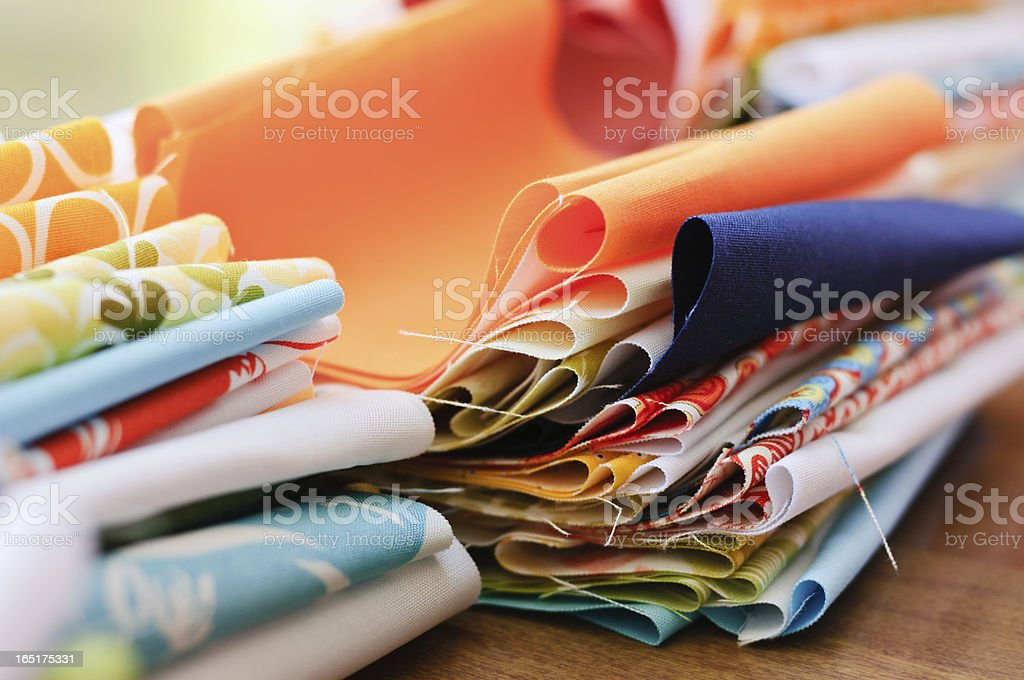 Quilting Fabric royalty-free stock photo