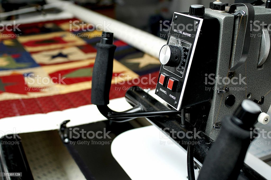 Quilting Machine royalty-free stock photo