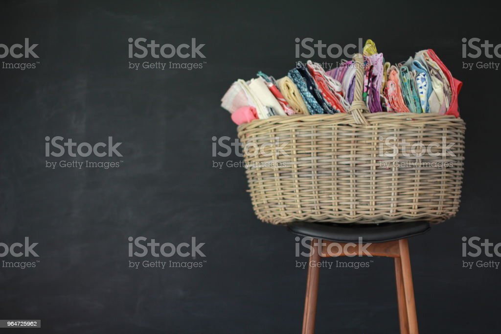 quilts and fabric royalty-free stock photo