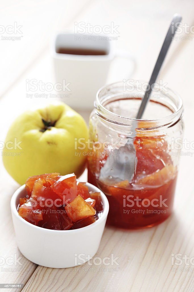 quince confiture royalty-free stock photo