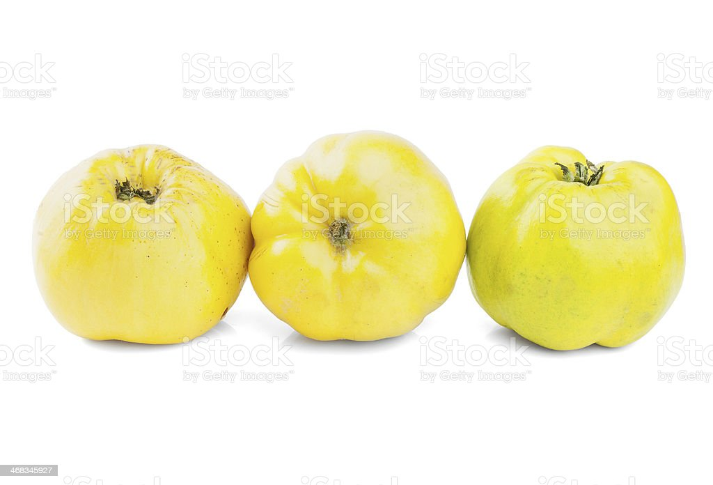 Quince on white background royalty-free stock photo