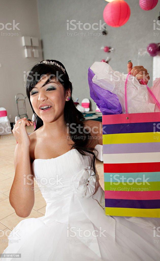 Quinceañera compleanno ragazza - foto stock