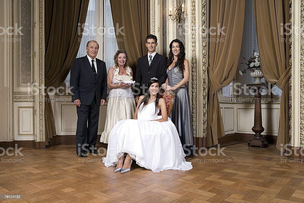 Quinceanera-Mädchen und Familie – Foto
