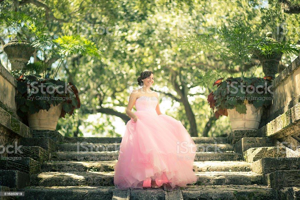 quinceanera stock photo