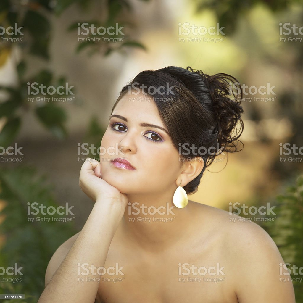 quinceanera posing royalty-free stock photo