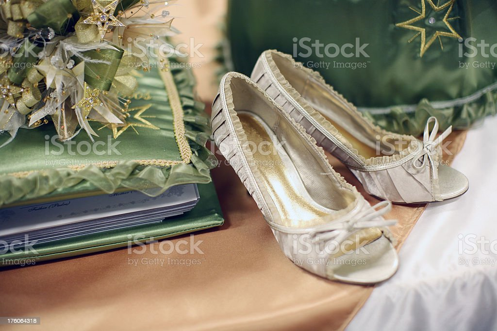 Quinceanera Shoes stock photo