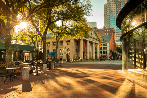Quincy Market auf dem Freedom Trail in Boston USA – Foto