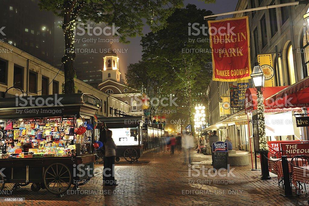 Quincy Market in Boston stock photo
