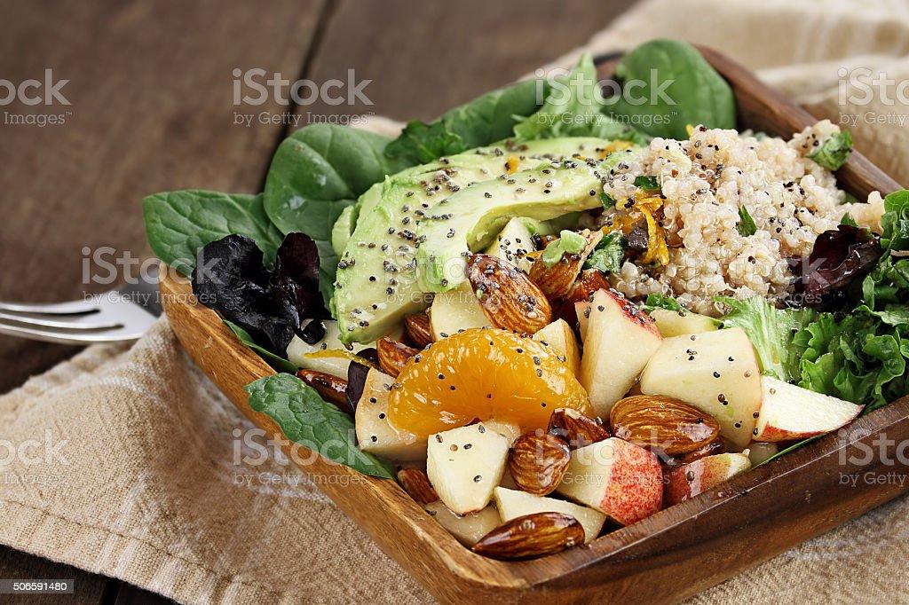 Quinoa and Fruit Salad stock photo