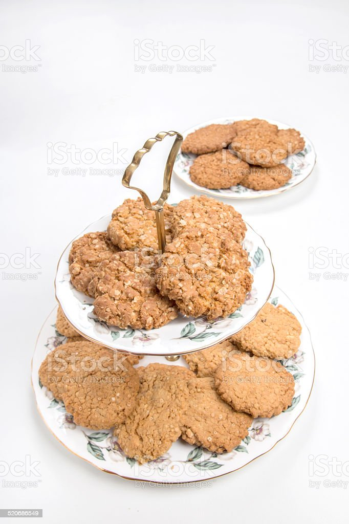 Quinoa and oat cookies/biscuits stock photo