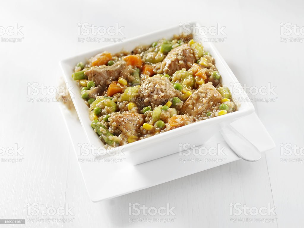 Quinoa and Organic Beef Stew royalty-free stock photo
