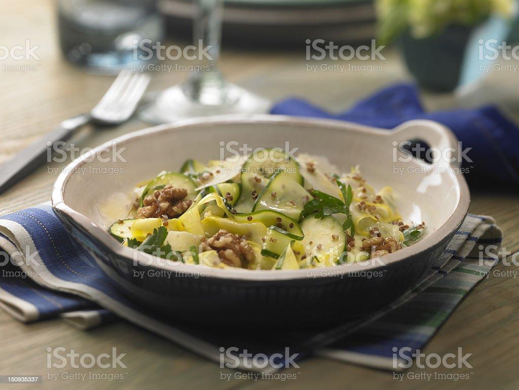 Quinoa and summer squash salad royalty-free stock photo