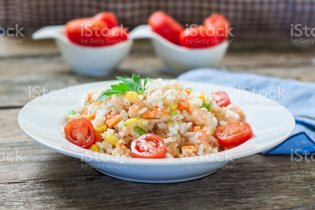 quinoa and veggies stock photo