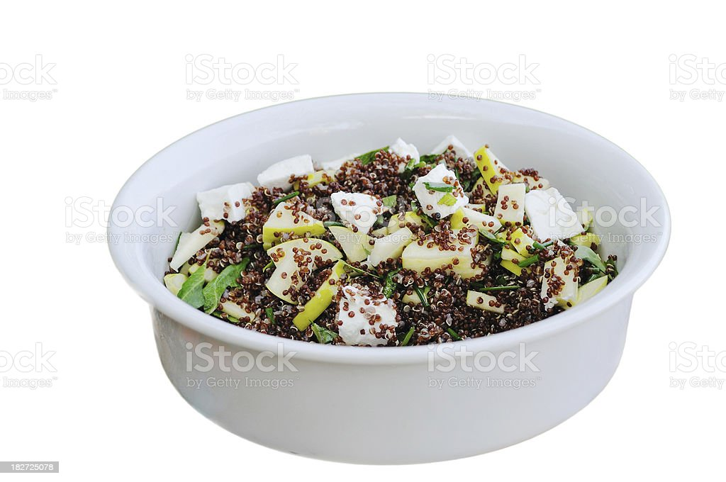 Quinoa, apple, sorrel and goat cheese salad royalty-free stock photo