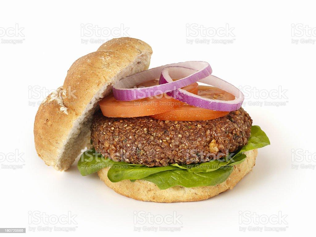 Quinoa Burger stock photo