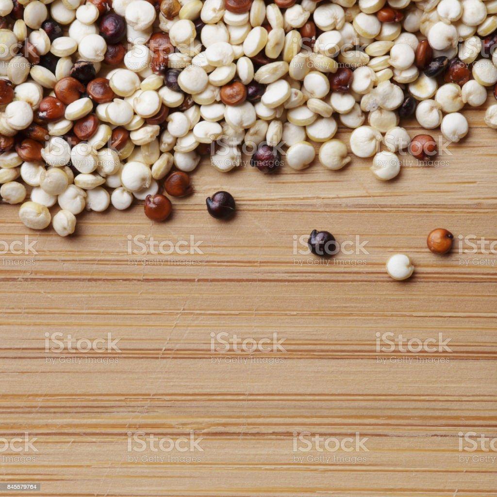 Quinoa close up stock photo