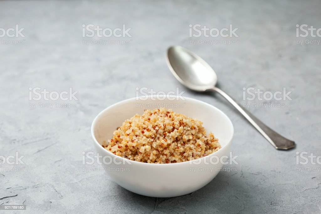 quinoa cooked stock photo