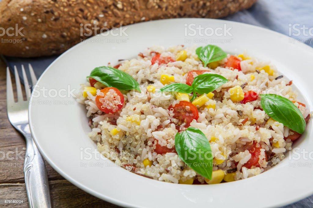 Quinoa salad stock photo