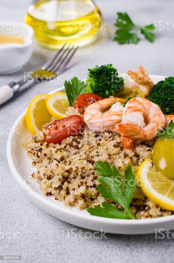 Quinoa salad with vegetables - Zbiór zdjęć royalty-free (Bez ludzi)