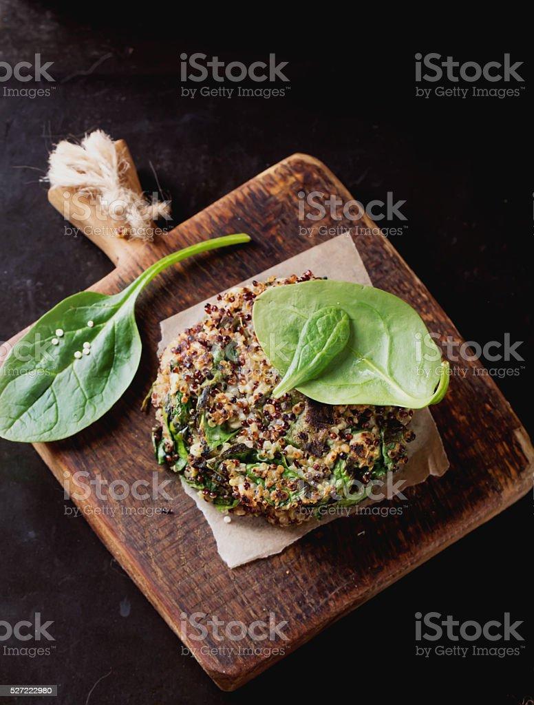 Quinoa Vegetarian Burgers stock photo