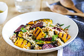 istock Quinoa with grilled Pumpkin and Beetroot salad by vinaigrette 801687250