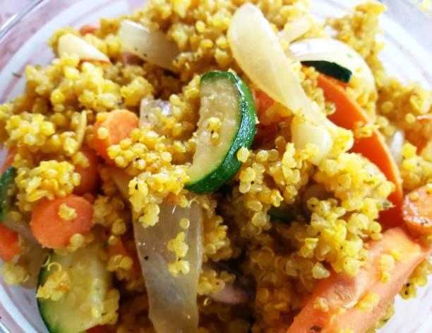 Quinoa with Veggies stock photo