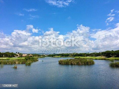 View of Quinta do Lago. Algarve, Portugal.