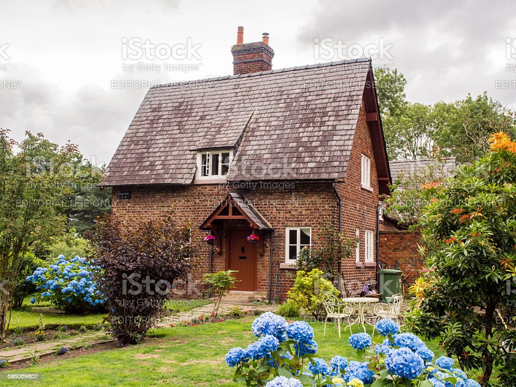 Quintessential English Cottages In Styal Village Stock Photo