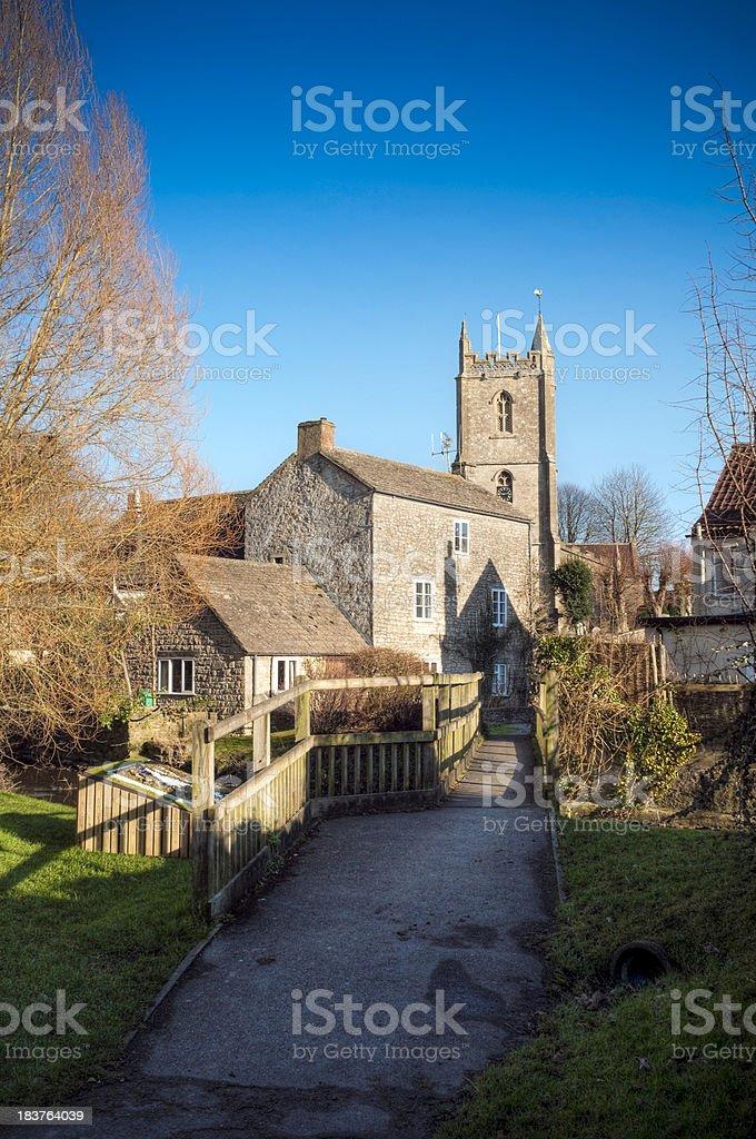 Quintessential English village, Nunney, Somerset, UK stock photo