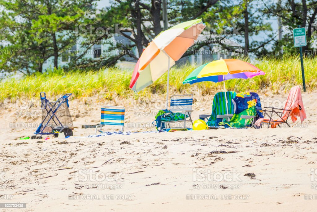 Équipement de plages stock photo