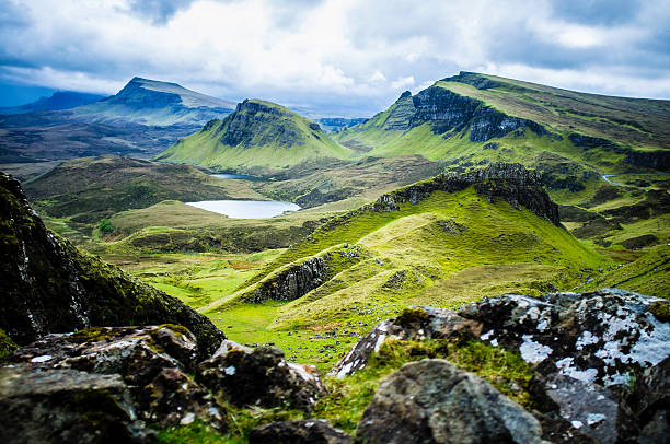 Quiraing Skye Quiraing on the Isle of Skye isle of skye stock pictures, royalty-free photos & images