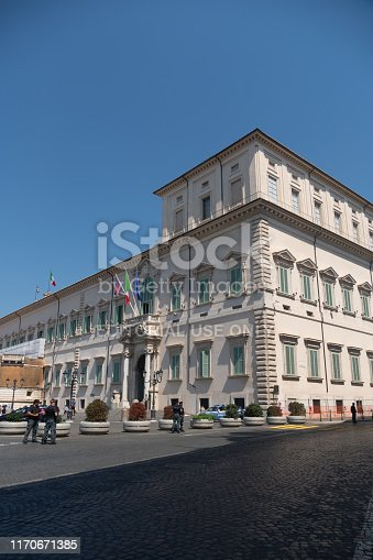 istock Quirinal palace (Palazzo del Quirinale or Quirinale) in Rome, Italy 1170671385