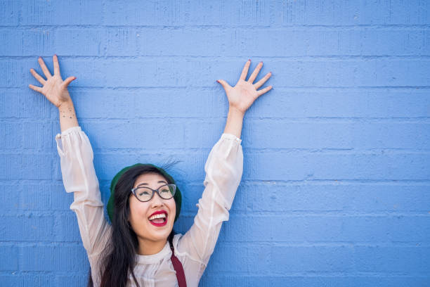 Quirky Asian Young Woman stock photo