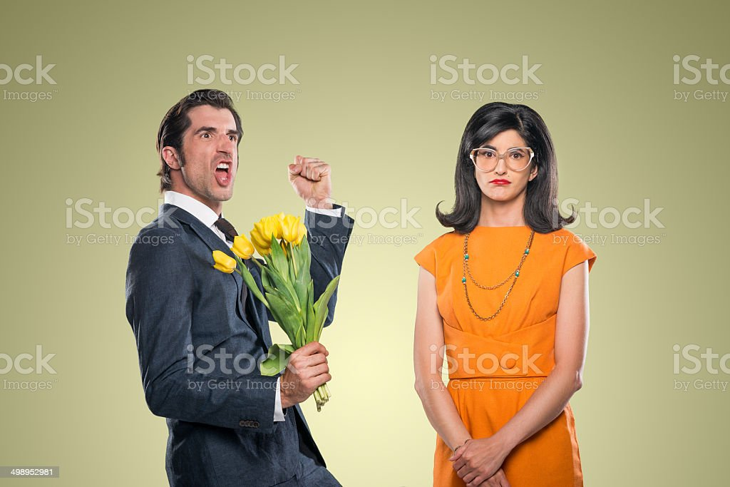 Quirky Stylish Couple stock photo