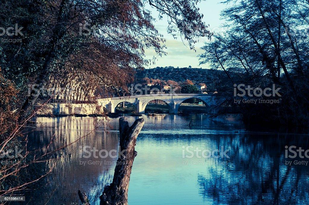 Quissac, Gard, South France stock photo