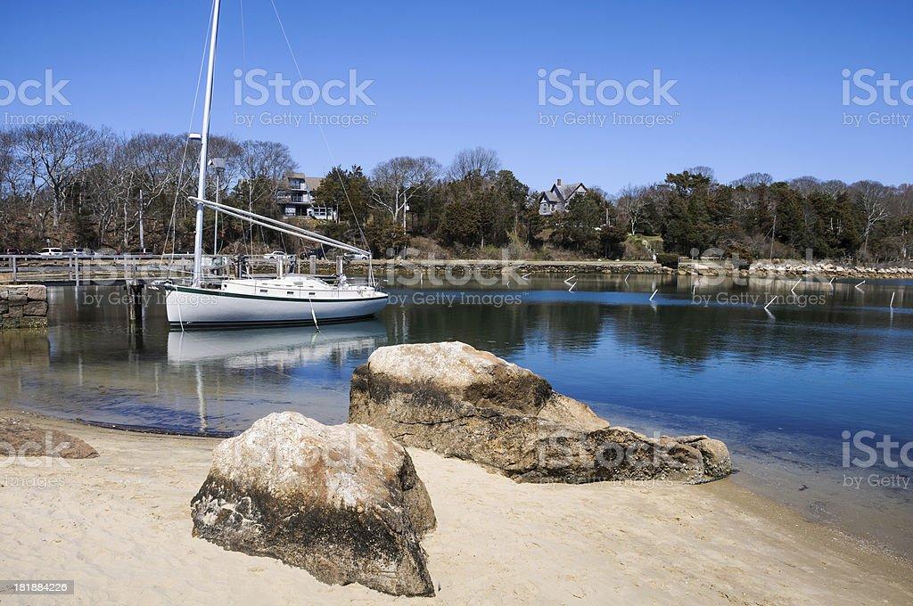 Quisset Harbor Sailboat royalty-free stock photo