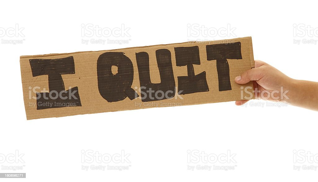 Quit royalty-free stock photo