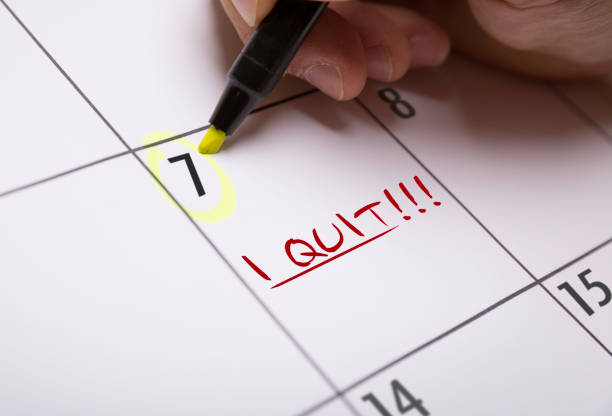 I Quit I Quit calendar note nicotine stock pictures, royalty-free photos & images