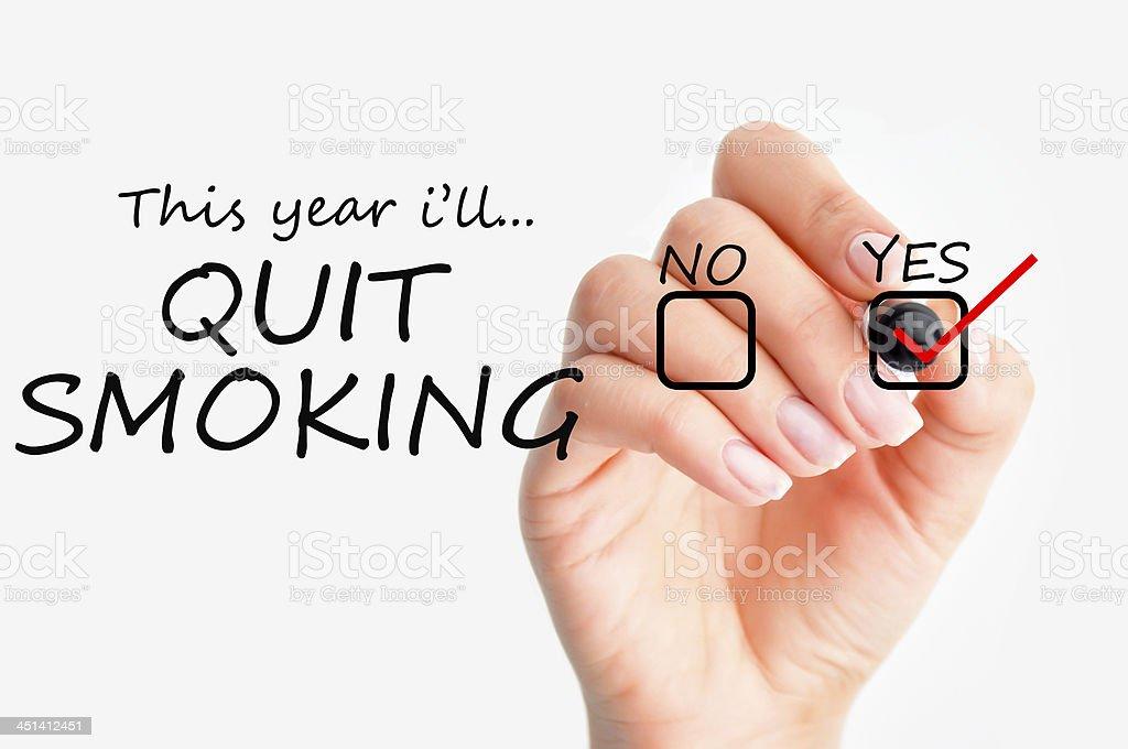 Quit smoking decision stock photo