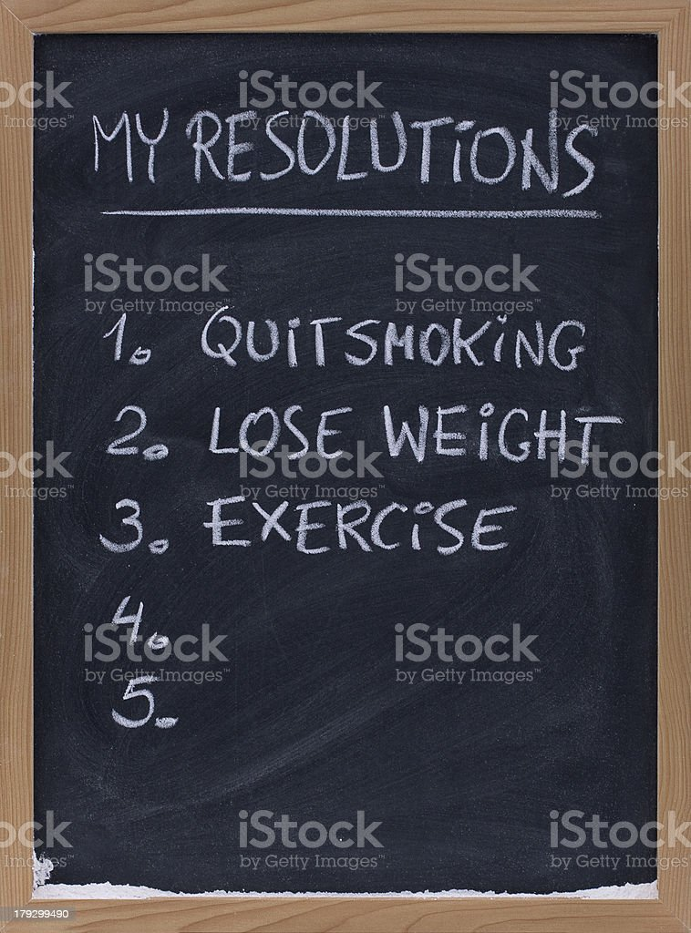 quit smoking, exercise, loose weight royalty-free stock photo