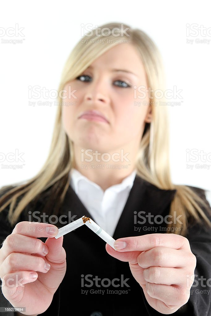 Quit  Smoking royalty-free stock photo